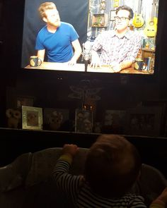 Your #newest #fan #goodmythicalmorning #rhettandlink #rhett #link #baby @rhett.andlink @rhettandlink @rhettmc @linklamont #eulenation