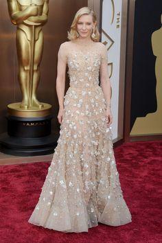 Cate Blanchett en robe Armani Privé à la 86ème cérémonie des Oscars, en 2014 à Los Angeles