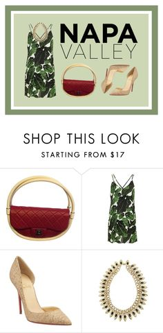 """""""Best Dressed Guest: Winery"""" by aoooooo ❤ liked on Polyvore featuring Chanel, Topshop, Christian Louboutin, napa, winerywedding, bestdressedguest and vineyardwedding"""