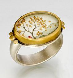 "Ananda Khalsa  ""Oval Autumn Maple Ring"""