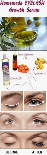 Homemade DIY Eyelash Growth Serum