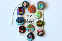 Story Stones and Painted Rocks / Pirate Storytelling Game and Toy