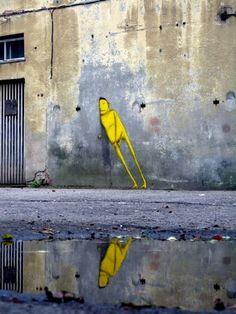 Brilliant street art by Brazilian twins Os Gémeos. via Unknown Kingdom