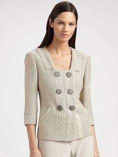 Cárdigan de punto. Chaqueta de punto a mano chaqueta suéter
