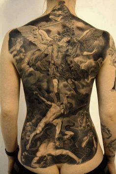 You may have come across some beautiful tattoo designs with holy wings or winged beings. There's a general name for this type of tattoos – Angel Tattoo, which could be worn by both men and women as they could be… Continue Reading → Detailliertes Tattoo, Backpiece Tattoo, Body Art Tattoos, Gray Tattoo, Sleeve Tattoos, Tatoos, Buddha Tattoos, Wing Tattoos, Samoan Tattoo