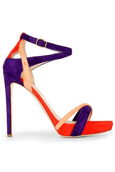 Burak Uyan Multicolor High Heeled Sandal Spring Summer 2014 #Shoes #Heels