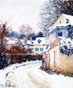 The Athenaeum - Road in Louveciennes (Alfred Sisley - )