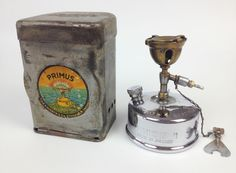 Vintage 1930s Primus 71 Camping Stove- Chrome WW2 Sweden Cooking Steampunk 1940s
