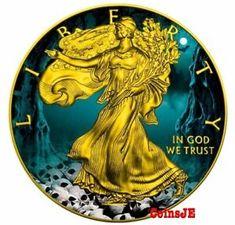 USA 2017 1$ American Eagle 1oz Liberty Map Of New York Silver .9999 Coin