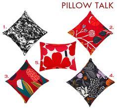 Relish: Marimekko throw pillows