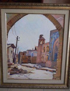 Robert Rosenberg Oil Painting Arab Village In Old Jerusalem Israel Holyland Rare #Realism