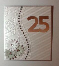 Wedding card hand made cardmaking embossing folder 18 Best ideas Wedding Anniversary Cards, Wedding Cards, 25th Anniversary, Sympathy Cards, Greeting Cards, 50th Birthday Cards, Embossed Cards, Card Sketches, Scrapbook Cards