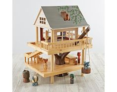 Land of Nod's Treehouse Play Set makes a swoon-worthy home for woodland creature dolls   Inhabitots