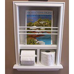 In-wall Bevel-framed Magazine Rack/ Toilet Paper Holder $80
