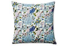Santa Barbara 20x20 Cotton Pillow, Multi on OneKingsLane.com