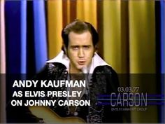 ▶ Andy Kaufman Impersonates Elvis Presley and Foreign Man on Johnny Carson's Tonight Show - YouTube