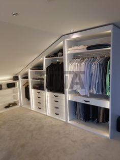 Attic Bedroom Storage, Attic Bedroom Designs, Bedroom Closet Design, Attic Design, Attic Rooms, Attic Spaces, Closet Designs, Closet Bedroom, Closet Renovation