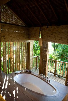 "Evason Hideaway & Six Senses Spa at koh Yao Noi island, Thailand - ""Bathtub"", my ***. Just sayin'. No bathtub I'VE ever seen even remotely comes close to that thing."