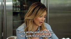 You know they're not cold hearted, it's just that crying with fresh makeup is a no no.
