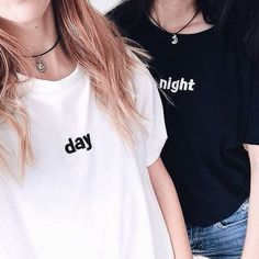 Wheretoget - White and black tee-shirts with printed message and metal silver pendant necklaces