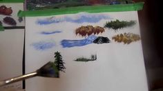 Allison will show you how to use your different brushes to paint clouds, bushes, trees, and grass, I will use the sponges and tissue in another video, great ...