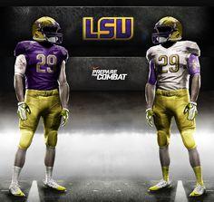 LSU Football Uniforms | ... Online Dynasty: Nike Announces New Pro Combat Uniforms for RUTS3 Teams