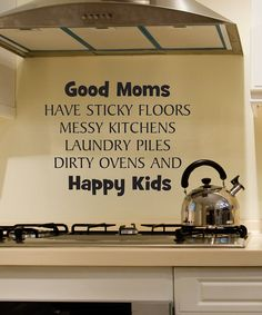 Black Good Moms Wall Quote