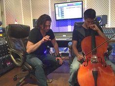 bigbadsoundla composing cello parts with Jackson Rathbone, Recording Studio, Cello, Cellos, Music Studios