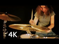Tap photo for video. drum cover by Sina Girl Drummer, Female Drummer, Tom Scholz, Drums Sheet, Drum Cover, Drum Lessons, Guitar Girl, All Songs, Foreplay