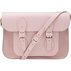 "The Cambridge Satchel Company The Classic 11"" Satchel , Pink ($145) ❤ liked on Polyvore featuring bags, handbags, accessories, bolsas, purses, pink leather handbag, genuine leather handbags, leather handbags, handbags purses and pink handbags"