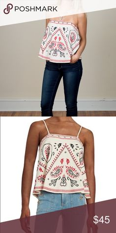 FREE PEOPLE FLIRT TANK Wear it with straps or without -- this tube top is precious! Flirt away! NWT. Free People Tops Tank Tops