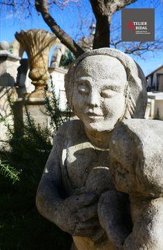 tête de lion comme Antik Grande Gargouille pierre blanc