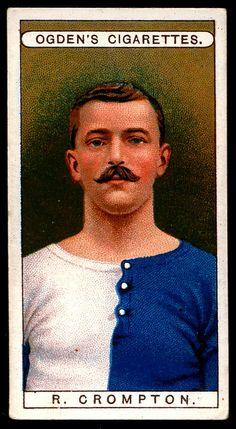 Cigarette Card - Footballer, R.Crompton
