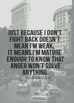 Anger & Maturity