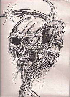 alien skull by poodies on @DeviantArt
