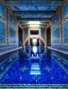 The Azure Blue Pool at Hearst Castle.
