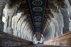 ramanathaswamy temple corridor-Rameswaram-India