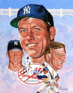 Mickey Mantle, New York Yankees by Robert Tanenbaum