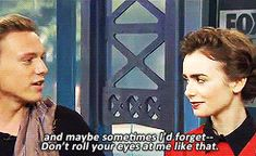 Jamie Campbell Bower, Lily Collins Interview GIF