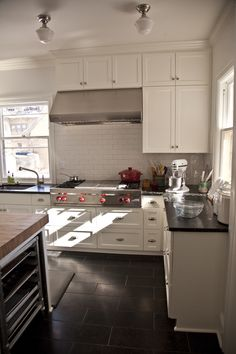 Kitchen remodel in turn of the century home - before and after photos, lots of dedicated areas