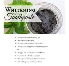 #tooth #whitening #toothpaste #diy #natural #chemiclefree #cleanliving