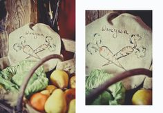 linen vegetables bag hand made #aleworek