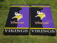 Minnesota Vikings NFL Custom Made Cornhole by GreatLakesCornhole, $185.00