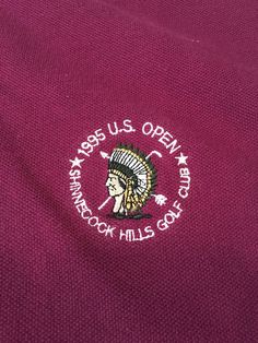 Men's Vintage Aureus 1995 U.S. OPEN Golf Polo Shirt - Wine Color - Size XL #Aureus #PoloRugby