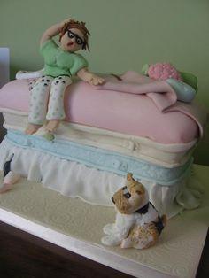 Princess and the pea cake with myself as the princess