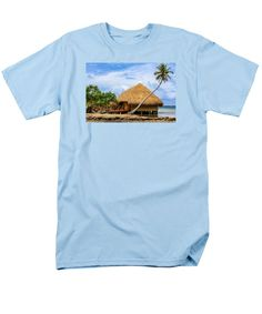 Purchase an adult t-shirt featuring the image of Living In Paradise by Kristina Abramovic.  Available in sizes S - 4XL.  Each t-shirt is printed on-demand, ships within 1 - 2 business days, and comes with a 30-day money-back guarantee.