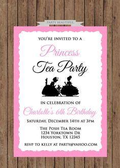Princess Tea Party Birthday InvitationGirls Pink by PartyBeautiful, $14.00