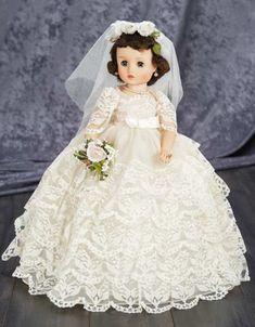 Pretty Dolls, Beautiful Dolls, Beautiful Bride, Beautiful Things, Antique Dolls, Vintage Dolls, Vintage Madame Alexander Dolls, Wedding Doll, Doll Dress Patterns