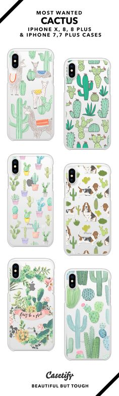 Most wanted cactus iPhone X, iPhone 8, iPhone 8 Plus, iPhone 7 and iPhone 7 Plus case. - Shop them here ☝️☝️☝️ BEAUTIFUL BUT TOUGH ✨ - boho, boho art, mandala art, pattern art, pastel art