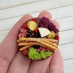 Miniature foods made of polymer clay